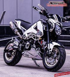Honda Grom, Honda Msx, Honda Bikes, Honda Motorcycles, Minibike, Thailand, Chrome, Motorbikes, Motorcycles