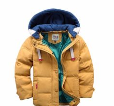 Cheap outerwear boys, Buy Quality kids winter outerwear directly from China boys outerwear Suppliers: Abreeze 2017 children Down & Parkas winter kids outerwear boys casual warm hooded jacket for boys solid boys warm coats Kids Winter Jackets, Boys Winter Coats, Kids Coats, Winter Kids, 2016 Winter, Fall Winter, Winter Clothes, Toddler Boy Coats, Winter Blue