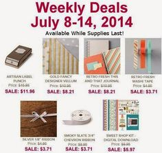NEW STAMPIN' UP! WEEKLY DEALS HAVE ARRIVED!