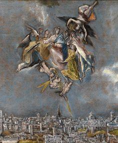 Vista y plano de Toledo, El Greco,  Museo del Greco, Toledo, España