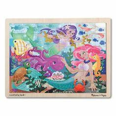 Melissa and Doug Mermaid Fantasea Wooden Jigsaw Puzzle - 48pc #WhimsicalUmbrella #Puzzle #Kids #Gift whimsicalumbrella.com