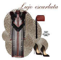 """#LujoEscarlata"" by besado-por-el-sol on Polyvore featuring moda, Dransfield & Ross, Proenza Schouler, The Row, Christian Louboutin y Harry Winston"