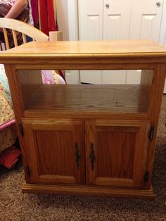 Old Oak TV Stand, Turned Nightstand!