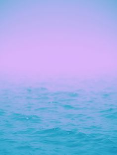 aqua ocean, mauve sky