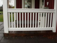 Balcony Railing, Deck Railings, Outdoor Curtains For Patio, Home Porch, Grey Cabinets, Fence Gate, Front Porch, Pergola, New Homes