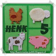 Kaarten en Creaties van Judith: Henk is 5 jaar geworden...