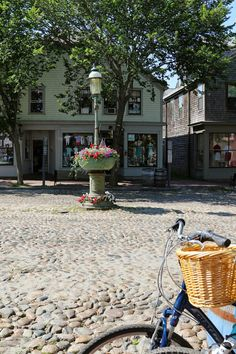 Nantucket cobblestone street | New England Living~ These streets are murder on your back & the shocks of your car!