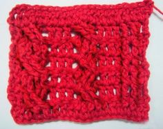 A wonderful blog that gives instructions on various crochet stitches! I was just doing a mock-up for a project and needed a pattern for a cable stitch; I found it here!