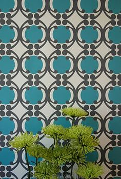i love this wallpaper by mod green pod