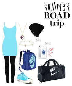 """Shades of Blue Road Trip"" by mias-angels on Polyvore featuring Wolford, BKE core, Converse, Monsoon, NIKE, Patagonia, claire's, ban.do and roadtrip"