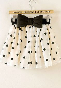 cute polka dot bubble skirt