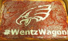 #Eagles Tomato Pie - Add your favorite Eagles Hashtag! #WentzWagon #TomatoPIe #Tailgating #Philly #CustomTomatoPie