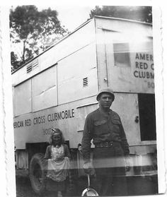 """This is a picture of Stanley Lee Crawley, who served under Patton, 3rd Army, 6th U.S. Calvary. Clubmobile """"Boise"""", Group F"""
