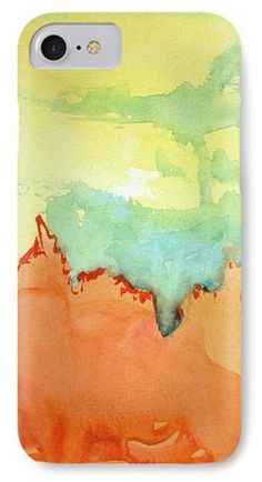IPhone Case featuring the painting Seemingly Sonoran by Jennifer Golubiewski