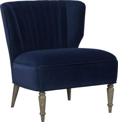 Navy Velvet Arietta Chair