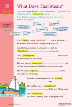 Looking for a worksheet to help you third grade child with vocabulary? This printable will help him by using context clues. Context Clues Worksheets, Comprehension Worksheets, Reading Worksheets, Writing Activities, Light Writing, Third Grade Reading, Vocabulary, Meant To Be, Education