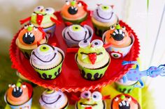 Monster Birthday Party Ideas | Cheeky Monster Cupcakes