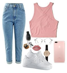 """""""Untitled #256"""" by champagnayegang ❤ liked on Polyvore featuring Barbour, Hollister Co., NIKE and Agnes de Verneuil"""