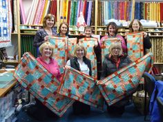 A lovely group of friends booked the Quilting Antics shop for an exclusive workshop day.It was great fun. quiltingantics.wordpress.com