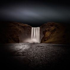 ★ Skogafoss, Iceland - Vision Drawing (Long exposure colour version).