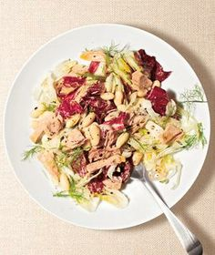Tuna, Fennel, and Bean Salad recipe from realsimple.com #myplate #protein #vegetables