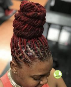 Top 40 Beautiful Styles for Dreadlocks Trend 2018 Dreadlock Styles, Dreads Styles, Updo Styles, Up Dos For Medium Hair, Medium Hair Styles, Long Hair Styles, Henna Designs, Natural Hair Care, Natural Hair Styles