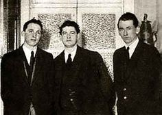 Tom Cullen, Michael Collins and Liam Tobin at the Gresham Hotel, January 1922.