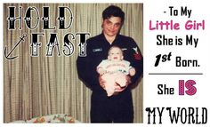 This is a tribute to my Father-In-Law seen here with my wife when she was a baby. He was an officer in the Navy and a very wise man. He passed on 12/10/12 from cancer, but before he did I promised him I would protect his little girl the way he had all these years. I will die keeping that promise and expect both my daughters husbands to do the same. Hold Fast Wayne! I'll take it from here. Hold Fast Tattoo, Wise Men, My Little Girl, I Promise, Traditional Tattoo, Daughters, Hold On, Law, Cancer