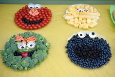Sesame Street fruit and veggie platters