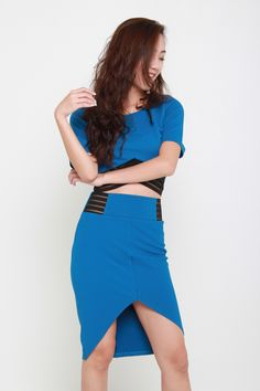 EVE PENCIL SKIRT - BLUE – Bella Blizz Playsuits, Eve, How To Look Better, High Waisted Skirt, Jumpsuit, Pencil, Rompers, Crop Tops, Elegant