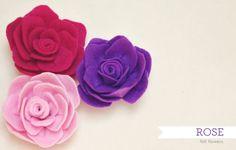 Caderninho da Pri: Rosa de Feltro