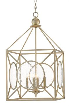 "Currey & Co. Beckmore Lantern #9000-0080 Size: 20"" sq. x 37"" h Retail: $2880"