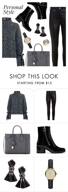 """Personal Style"" by dressedbyrose ❤ liked on Polyvore featuring Moncler, Givenchy, Yves Saint Laurent, Marc Jacobs, H&M, Burberry, Bloomingdale's, ootd and polyvoreeditorial"