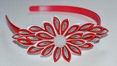 Цветок Канзаши на ободке. Мастер класс. DIY Kanzashi flower . Ribbon