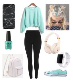 """""""Untitled #8"""" by torreslizbeth on Polyvore featuring WithChic, Topshop, Converse and Apple"""
