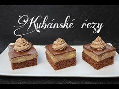Kubánské řezy | Videorecept | Dvě v troubě | CZ/SK HD recipe - YouTube Cheesecake, Food And Drink, Treats, Drinks, Sweet, Desserts, Recipes, Youtube, Hampers