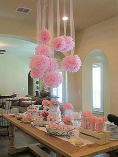 Most current Snap Shots Birthday Decorations fiesta Thoughts Steamy pale desserts, colourful confetti, balloons as well as ribbons. Fun-filled schoolhouse vibe and wistful enjoyment Shower Party, Baby Shower Parties, Baby Shower Themes, Shower Ideas, Baby Shower Deco, Pink Party Decorations, Bridal Shower Decorations, Tissue Paper Decorations, Paper Garlands
