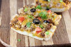 Taco French Bread Pizza