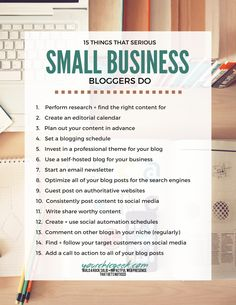 Want to get serious about blogging for business? Here are 15 things that you can do!