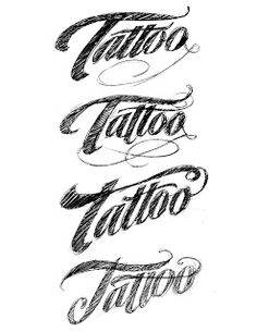 THE ART OF HAND LETTERING: The Tattoo Logo