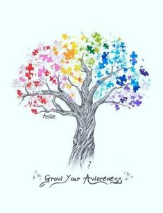 Love, love, love this idea for an Autism Awareness tattoo. <3