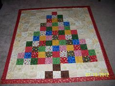 Lil' Twister Christmas Tree Pattern | Twister Christmas quilt
