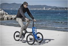 The Kiffy Urban Tricycle is a collaboration by French designer Patrick Jouffret of design studio agency 360, and Norbert Peytour of NPinnovation. The innovative folding tricycle can be separated with ease into two completely independent sections, and