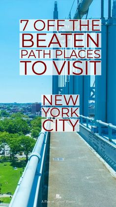 7 Off the Beaten Path NYC Attractions: A local NYC experience The local NYC, the small corners, the neighborhoods: there is so much to see without the crowds. Here you'll find the best of off the beaten path NYC. New York City Vacation, Visit New York City, New York City Travel, London Travel, Lower Manhattan, Manhattan New York, Rockefeller Center, Chrysler Building, Central Park