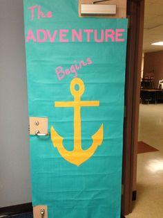 Nautical Clroom Door Welcome Layout Board 4th Grade