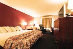 King Bed Room at the Fireside Inn & Suites in West Lebanon. www.afiresideinn.com