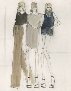 Fashion Sketchbook - fashion illustrations for a chic tailored collection; fashion portfolio // Katherine Owen