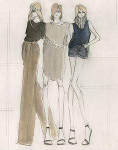 Fashion Sketchbook - fashion illustrations for a chic tailored collection; fashion portfolio // Katherine Owen