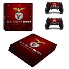 S.L. Benfica Ps4 slim edition decal for console and 2 controllers