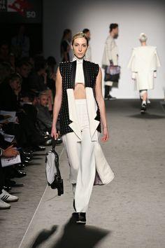 Accademia di Costume e di Moda Talents 2014 Giulia Goretti De'Flamini   WEISS #fashion #womenswear #white #neoprene #wool #leather